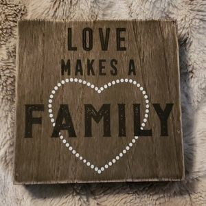 Wooden Family Message Plaque